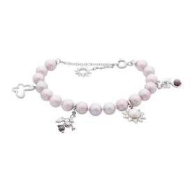 【送料無料】ブレスレット カフスチールパールサンカエルバタフライbracciale donna misaki karab h92627 acciaio perla sole rana jeko farfalla