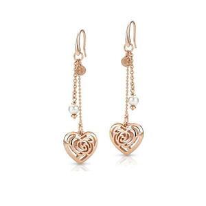 【送料無料】ブレスレット スワロフスキービーズイヤリングorecchini donna cuore con perle swarovski roseblush 131408011 nomination