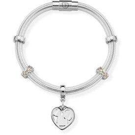 【送料無料】ブレスレット ピンクカフシルバーops bracciale true opsbr491 silver con cristalli rosa