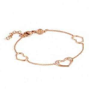 【送料無料】ブレスレット カフシルバーピンクハートbracciale donna argento rosa cuore unica nomination 146401002