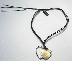 【送料無料】ブレスレット ステンレススチールkゴールドレースブラックparicollo nomination a cuore in acciaio e oro 18k con laccio multifili nero