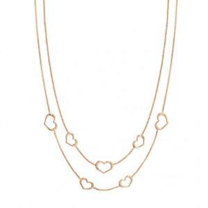 【送料無料】ブレスレット ネックレスシルバーピンクハートcollana donna argento rosa cuore unica nomination 146403002