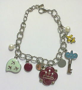 【送料無料】ブレスレット ペンダントハートブレスレットキーbracciale con ciondoli perla cuore chiave