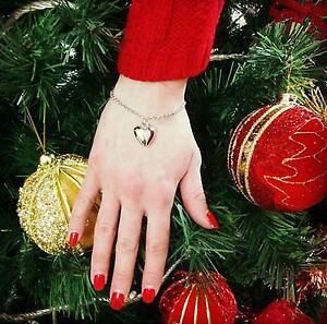 【送料無料】ブレスレット ブレスレットペンダントハートカフbracciale donna bigiotteria con ciondolo a cuore bracelet with heart