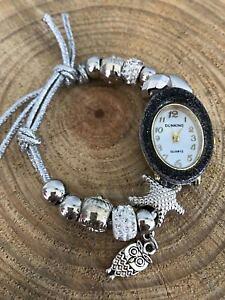 【送料無料】ブレスレット ペンダントブレスレットカフbracciale da donna orologio con charm ciondoli polso braccialetto stella cuore