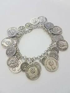 【送料無料】ブレスレット ペンダントコインカフコインブレスレットbracciale donna bigiotteria con ciondoli moneta piccoli e grandi coin bracelet