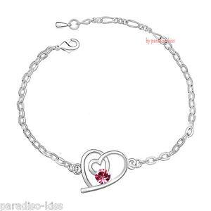 【送料無料】ブレスレット ピンクハートクリスタルスワロフスキーエレメントカフbracciale da donna cuore rosa cristallo swarovski elements diy b20