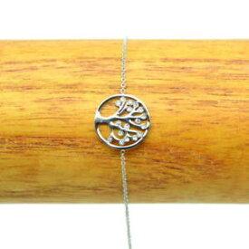 【送料無料】ブレスレット ブレスレットラインストーンブラbracelet acier inox 316l arbre de vie strass chaine fine charm bra007argent