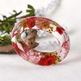 【送料無料】ブレスレット ドライフラワーブレスレットライトブレスレットbraccialetto polsno di fiore secco bracelet chiaro lucido per regalo donna