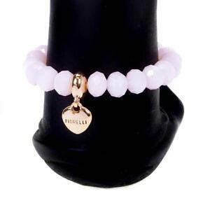 【送料無料】ブレスレット ピンクドロップローズゴールドビーズストレッチブレスレットfiorelli goccia cuore charm rosa amp; rose gold con perline stretch donna braccialetto regalo
