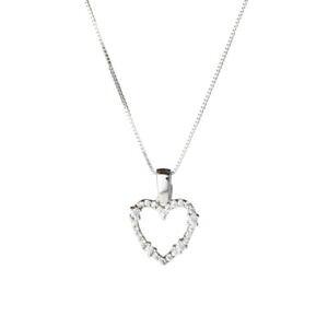 【送料無料】ブレスレット ホワイトゴールドネックレスcollana donna cuore in oro bianco con zirconi 3683v82k500
