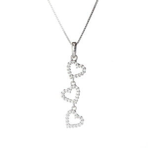 【送料無料】ブレスレット ホワイトゴールドネックレスcollana donna cuore in oro bianco con zirconi 1921v90w500