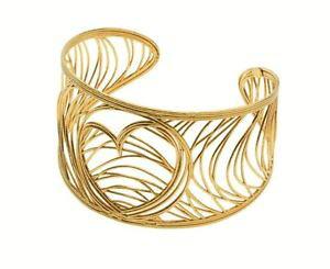 【送料無料】ブレスレット メタルブレスレットゴールドシルバーシックbracciale rigido stroili oro collez chic embrace in argento dorato a cuore