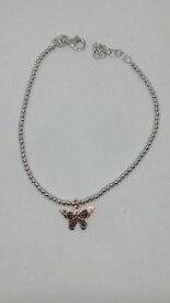 【送料無料】ブレスレット カフシルバーボールボールバタフライペンダントbracciale donna argento palline sfere mm 2 charm ciondolo farfalla ramata