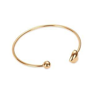 【送料無料】ブレスレット カフピンクゴールドハートbracciale donna ottone oro rosa cuore