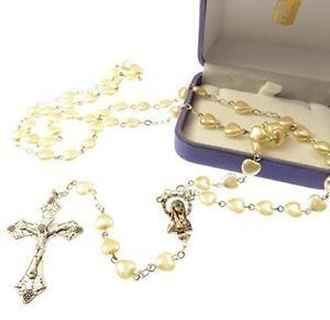 【送料無料】ブレスレット ブドウフォームimitiation perla cuore a forma di large rosari con uva crocifisso in e8a