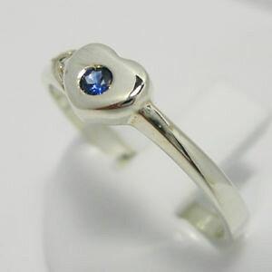 【送料無料】ブレスレット リングフォームシルバーラウンドサファイアgrazioso anello forma cuore argento 925 e zaffiro tondo