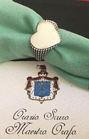 【送料無料】ブレスレット シルバーハートリングanello cuore in argento 925 brunito e lucido