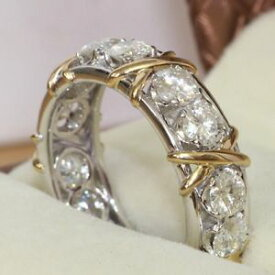 【送料無料】ブレスレット ジルコンリングサイズluccicante bianco cristallino lucido zircone anello eternity fede nuziale misura n12, 7