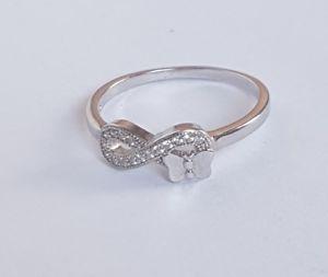 【送料無料】ブレスレット anello donna ragazza infinito in argento 925 ring silver con zirconi brillanti