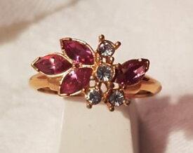 【送料無料】ブレスレット ビンテージリングエイボンクリスタルローズブランbijou vintage bague ring t59 sign avon cristal rose blanc mtal dor t6