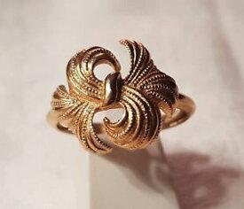 【送料無料】ブレスレット ビンテージリングエイボンbijou vintage bague ring t61 floral textur sign avon mtal dor t6