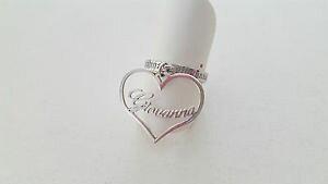 【送料無料】ブレスレット シルバーリングペンダントanello in argento 925 con ciondolo a cuore e nome giovanna