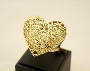 【送料無料】ブレスレット ブロンズマキシリングmaxi anello a cuore patrizia daliana in filigrana di bronzo dorato