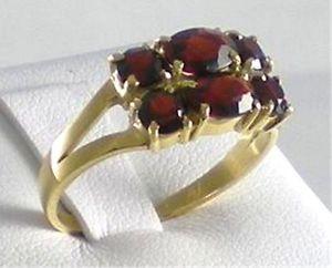 【送料無料】ブレスレット ゴールドリングガーネットgrazioso anello oro e granati naturali