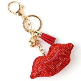 【送料無料】ブレスレット キーチェーンキーチェーンブティックlush rosso pave crystal labbra portachiavi, portachiavi da rocce boutique