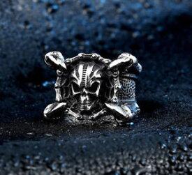 【送料無料】ブレスレット ステンレススチールフィルムエイリアンプレデタークロースカルヘッドリングnuovo in acciaio inox argento alieno film predator artiglio cranio testa anello lucido