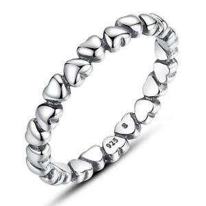 【送料無料】ブレスレット ファッションスターリングシルバーリングリングサイズnuova inserzione2018 moda vero argento sterling 925 anello donna cuore amore anelli misura 9