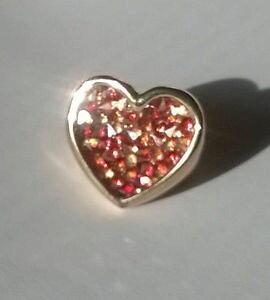 【送料無料】ブレスレット ブロンズリングピンクゴールドスワロフスキークリスタルzoppini anello in bronzo oro rosa a cuore, cristalli swarovski ros, rosso