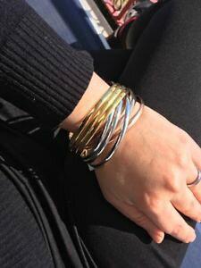 【送料無料】ブレスレット カフブレスレットファッションスワロフスキークリスタルbracciale braccialetto donna cuore moda idea regalo swarovski cristallo acciaio