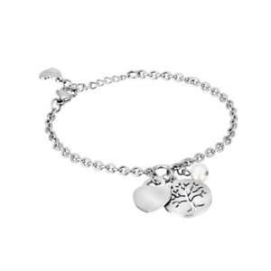 【送料無料】ブレスレット カフツリープレッピーライフハートパールbracciale donna 2jewels preppy con albero della vita cuore e perla 231492