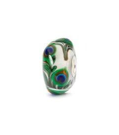 【送料無料】ブレスレット ガラスビードオリジナルtrollbeads bead in vetro occhio di pavone tglbe10420 originale
