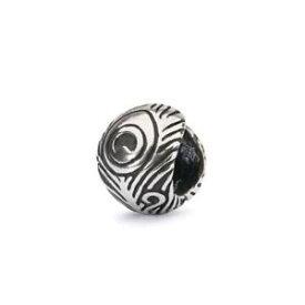 【送料無料】ブレスレット シルバーオリジナルビーズtrollbeads original beads in argento piuma di pavone tagbe10191