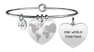 【送料無料】ブレスレット ブレスレットkidult bracciali acciaio love mondo a cuore fratellanza 731089