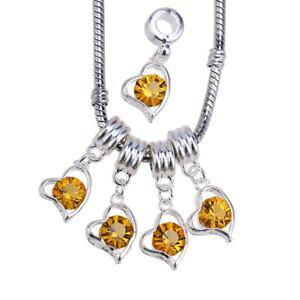 【送料無料】ブレスレット ハートクリスタルラインストーンペンダントrubyca cuore cristallo strass ciondolo perle di vari colori per creazione g1g