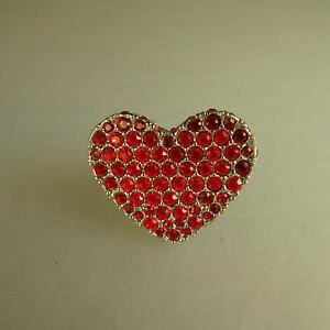 【送料無料】ブレスレット ハートスワロフスキーエレメントリングneugablonz anello da donna cuore swarovski elementsmai usato 49620
