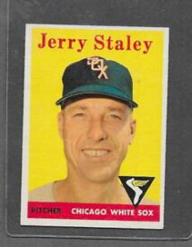 【送料無料】スポーツ メモリアル カード #ジェリー1958 topps baseball 412 jerry staley exmt *6378