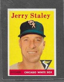 【送料無料】スポーツ メモリアル カード #ジェリー1958 topps baseball 412 jerry staley exmt *6376