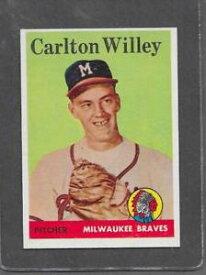 【送料無料】スポーツ メモリアル カード #1958 topps baseball 407 carlton willey exmt *6345
