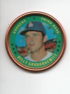 【送料無料】スポーツ メモリアル カード ビリーコイン#ロサンゼルスドジャースブレークbilly grabarkewitz 1971 topps coin 21 los angeles dodgers set break gd