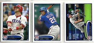 【送料無料】スポーツ メモリアル カード カードテキサスレンジャーズチームユセット2012 topps 23card texas rangers baseball team set yu darvich rc koji uehara