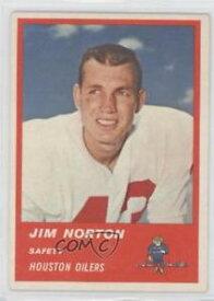 【送料無料】スポーツ メモリアル カード #ジムサッカーカード1963 fleer 40 jim norton houston oilers football card