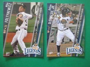 【送料無料】スポーツ メモリアル カード マイクレキシントンmike foltyicz delino deshields, jr 2011 lexington set