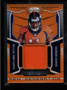 【送料無料】スポーツ メモリアル カード ニューlistingcourtland sutton 2018certified generation orange used399jersey rc ah2689 listingcourtland sutton 2018 certified