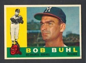 【送料無料】スポーツ メモリアル カード ボブ#1960 topps bob buhl 374 braves *nearmint*