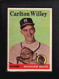 【送料無料】スポーツ メモリアル カード #1958 topps 407 carlton willey exmt d5449